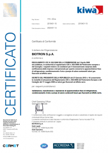 Certificazione F-Gas 303/2008